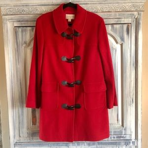 Casual Corner Red Wool & Cashmere Coat